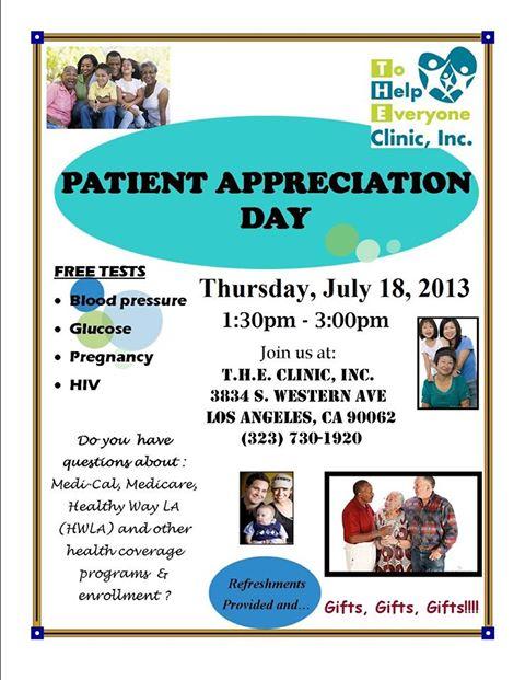 Patient Appreciation Day @ T.H.E. - Southside Coalition